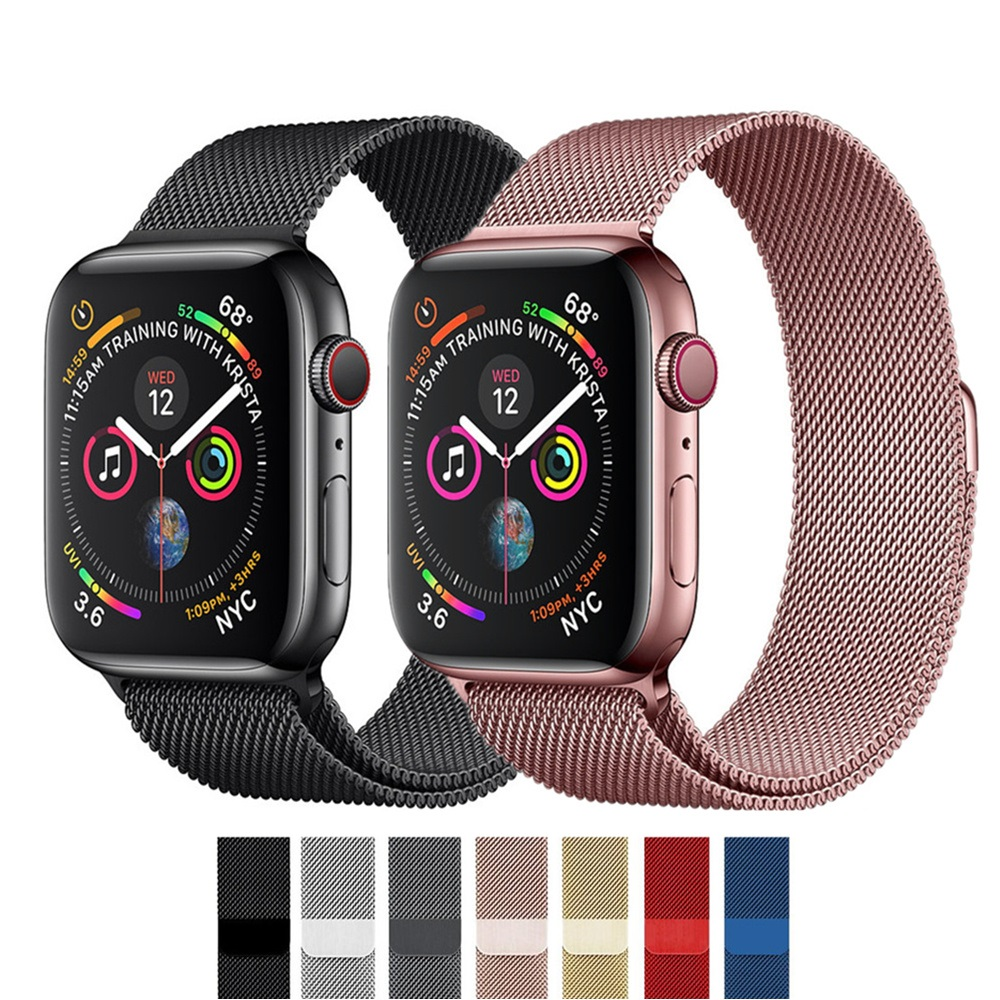 Milanese Loop For Apple Watch5/4/3/2/1 Iwatch Band Strap 42mm/38mm Stainless Steel Link Bracelet Wrist Watchband Magnetic Buckle