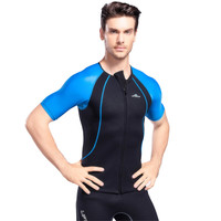 Lycra Fabric Wetsuits Men's Short sleeve Outdoor Surf Clothing Elastic Wetsuit Diving Suit Men Sunscreen Swimsuit Beach Clothes