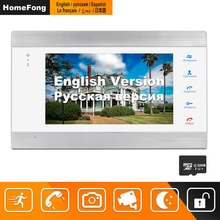 Homefong Video Door Phone Wired 7inch HD Monitor with Motion Detection Record Support CCTV Camera For Home Video Intercom System