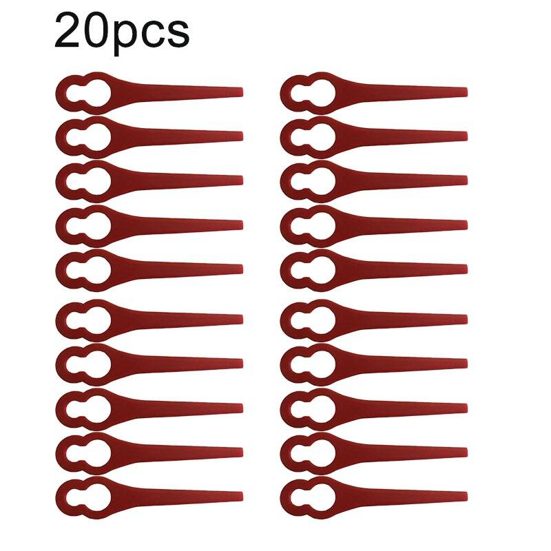 20pcs Plastic Blades Leaf For Parkside Cordless Lawn Trimmer PRTA 20-Li A1 - LIDL IAN 311046 Cutter Replacements