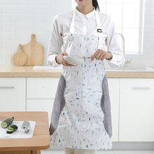 Kitchen Wipeable Waterproof Apron Oil-Proof Waist Large Pocket housekeeping money Waterproof apron Oxford cloth Cooking overalls(China)