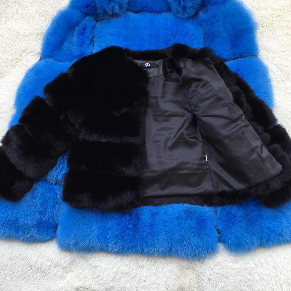 Berbulu Bulu Imitasi Mantel Wanita Musim Dingin Jaket Fashion Tebal Hangat Mantel Faux Bulu Rubah Mantel Wanita Bulu Jaket Kasual Pesta mantel