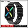 MAFAM DT94 Смарт-часы для мужчин и женщин 1,78 дюйма TFT экран Bluetooth Вызов IP67 водонепроницаемые часы с пульсометром PK P8 plus P9