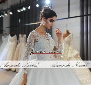 Image 2 - Vestidos de novias spitze kleid elegante neue hochzeit kleid schöne echt arbeit gleiche wie auf foto
