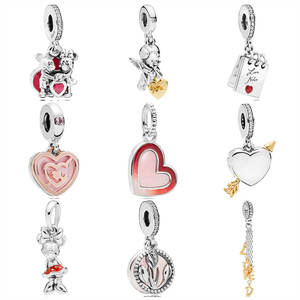 Bead Jewelry Pandora Bracelet Mickey-Minnie Charm-Fit Love-Pendant 925-Sterling-Silver