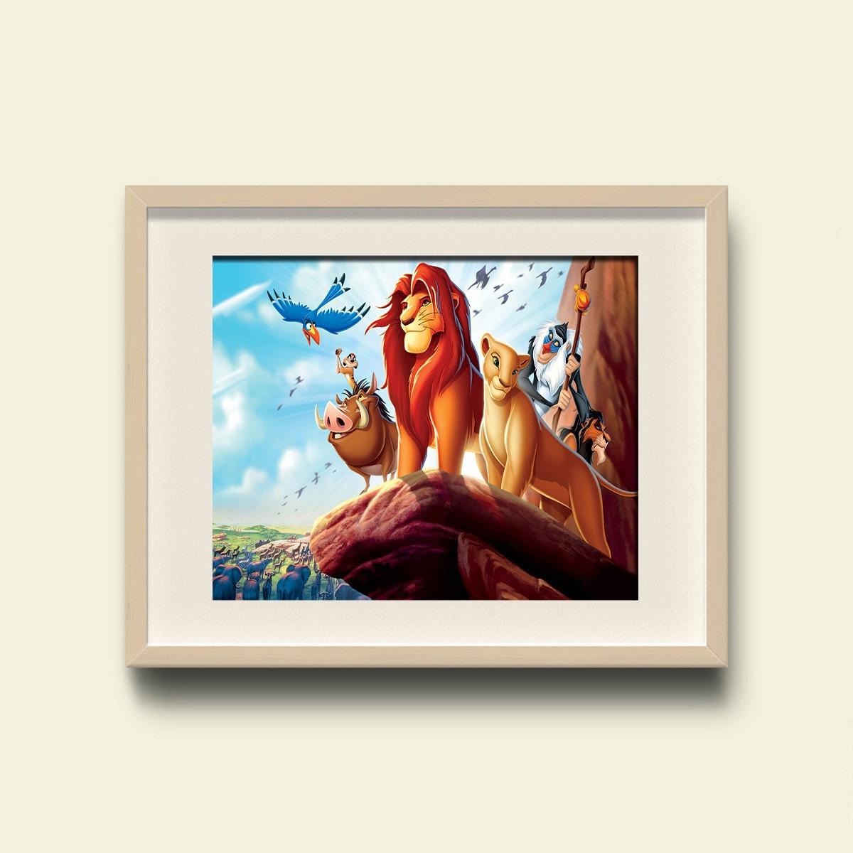 DHgate AliExpress Modern Animation Wall Art Lion King Simba Home Decorative Painting