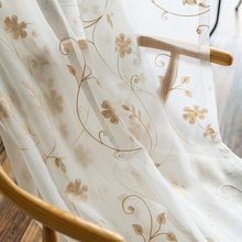 Floral tulle sheer window curtains for living room the bedroom kitchen Embroidered Voile curtains for window fabric blinds Door цена и фото