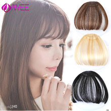 AIYEE 6 Inch Synthetic Clip On Short Thin Blunt Straight Fro