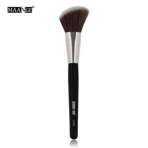 Image 2 - MAANGE 1 pièces Oblique tête pinceau de maquillage visage joue Blush Contour cosmétique poudre fond de teint Blush brosse angle maquillage outils Kit