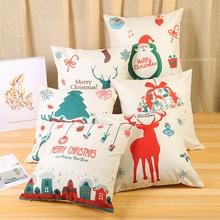 Santa Claus Merry Christmas Decoration Pillow Case Xmas Decorations For Home 2019 Navidad Ornaments