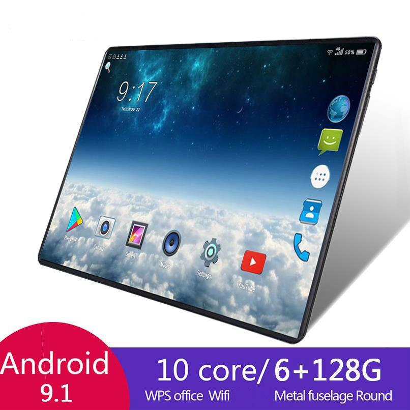 2021 Лидер продаж 10,1 дюймов Octa Core 6 г + 128 ГБ Android 8,1, wi-fi, планшет, компьютер, Две сим-карты, двойной Камера Bluetooth 4G Wi-Fi для сотовых телефонов, планше...