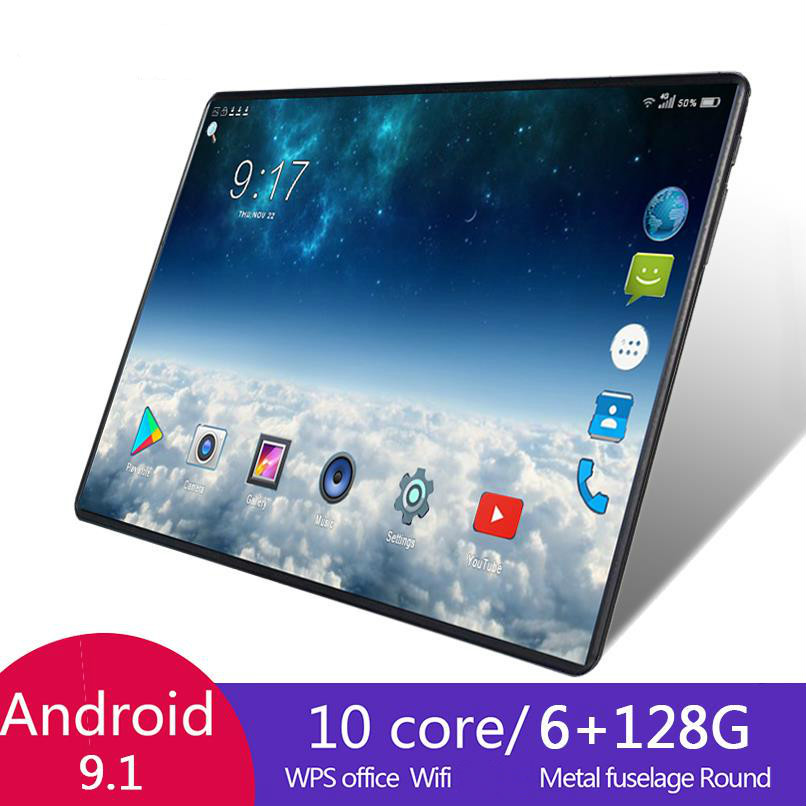 2021 venda quente 10.1 Polegada octa núcleo 6g + 128gb android 8.1 wifi tablet pc duplo sim câmera bluetooth 4g wifi chamada telefone tablet