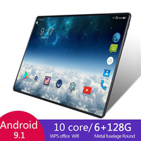 2021 Hot Sell 10.1Inch Octa Core 6G+128GB Android 8.1 WiFi Tablet PC Dual SIM Dual Camera Bluetooth 4G WiFi Call Phone Tablet