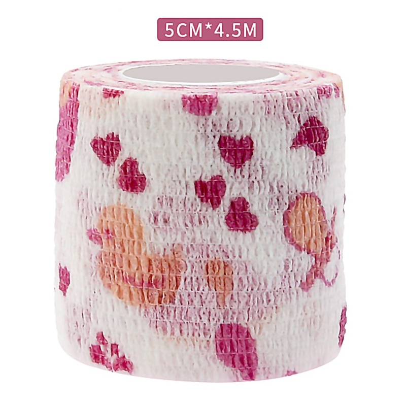 Cartoon Print Sport Self Adhesive Elastic Bandage Knee Support Pads 4.5m Wrist Ankle Protector Palm Shoulder Wrap Tape