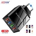 Высококачественное 4-портовое USB зарядное устройство QC/3,0 EU/US, дорожные настенные зарядные устройства для iphone, Huawei, быстрая зарядка, адаптер д...