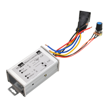 DC 9V-60V 12V 24V 36V 20A PWM DC Brush Motor Speed Controller CW CCW Reversible Switch for Electric Scooter Bicycle E-bike my6812 100w dc 12 24v 2700rpm high speed brush motor for electric tricycle electric scooter motor gear pulley optional