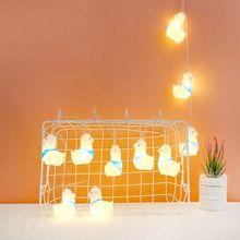 10 светодиодов милый Альпака струнный светильник забавная фея дети ночника для дома Вечерние