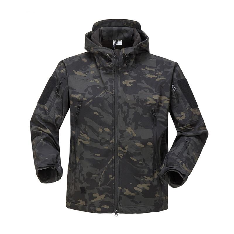 2020 Brand Autumn Winter Military Fleece Camouflage Tactical Men's Clothing Polar Warm Multicam Army Men Coat Outwear Hoodie
