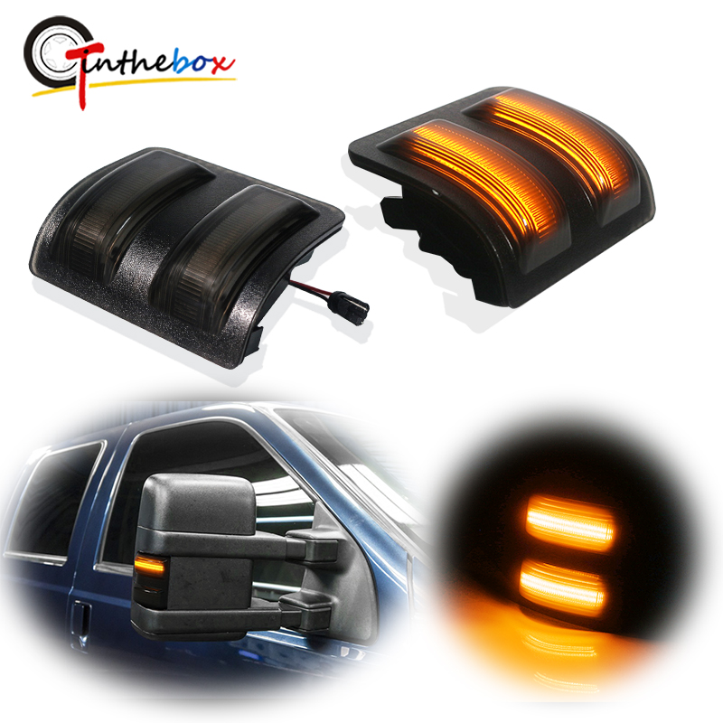 Smoked Lens Switchback LED Side Mirror Marker Lamps For 2008-16 ...