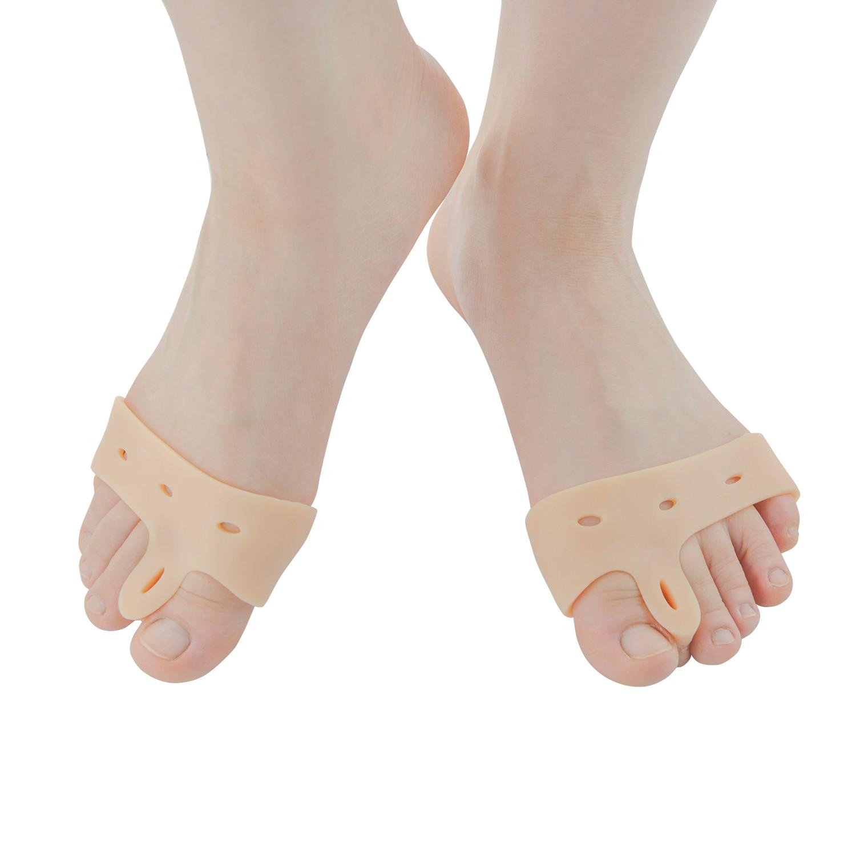 2pcs Gel Silicone Bunion Corrector Big Toe Separators Straightener Spreader Foot Care Tool Hallux Valgus Pro Massager Z27901