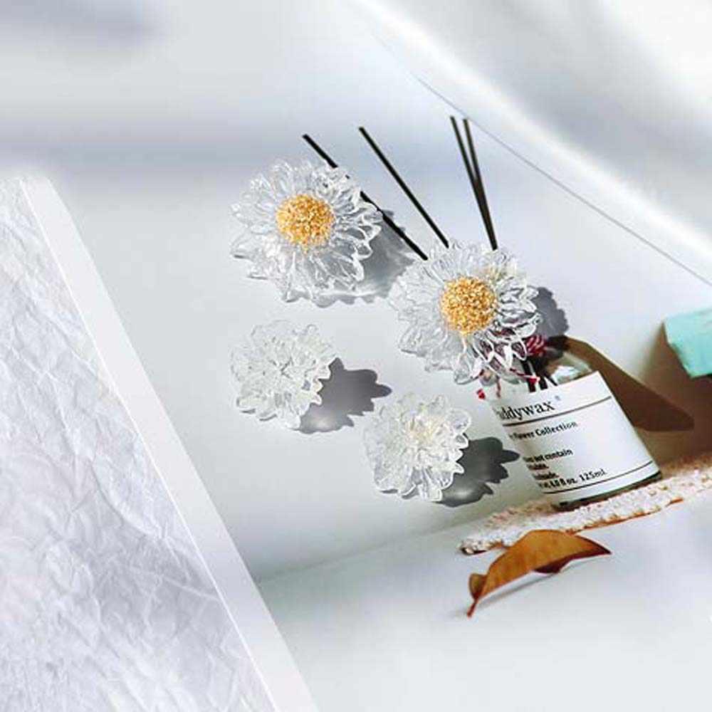 Mùa Hè Nhựa Hoa Tai Đính Đá Nữ Cô Gái BIJOUX Trong Suốt Bông Tai Hoa Hướng Dương Trang Sức Thời Trang 1