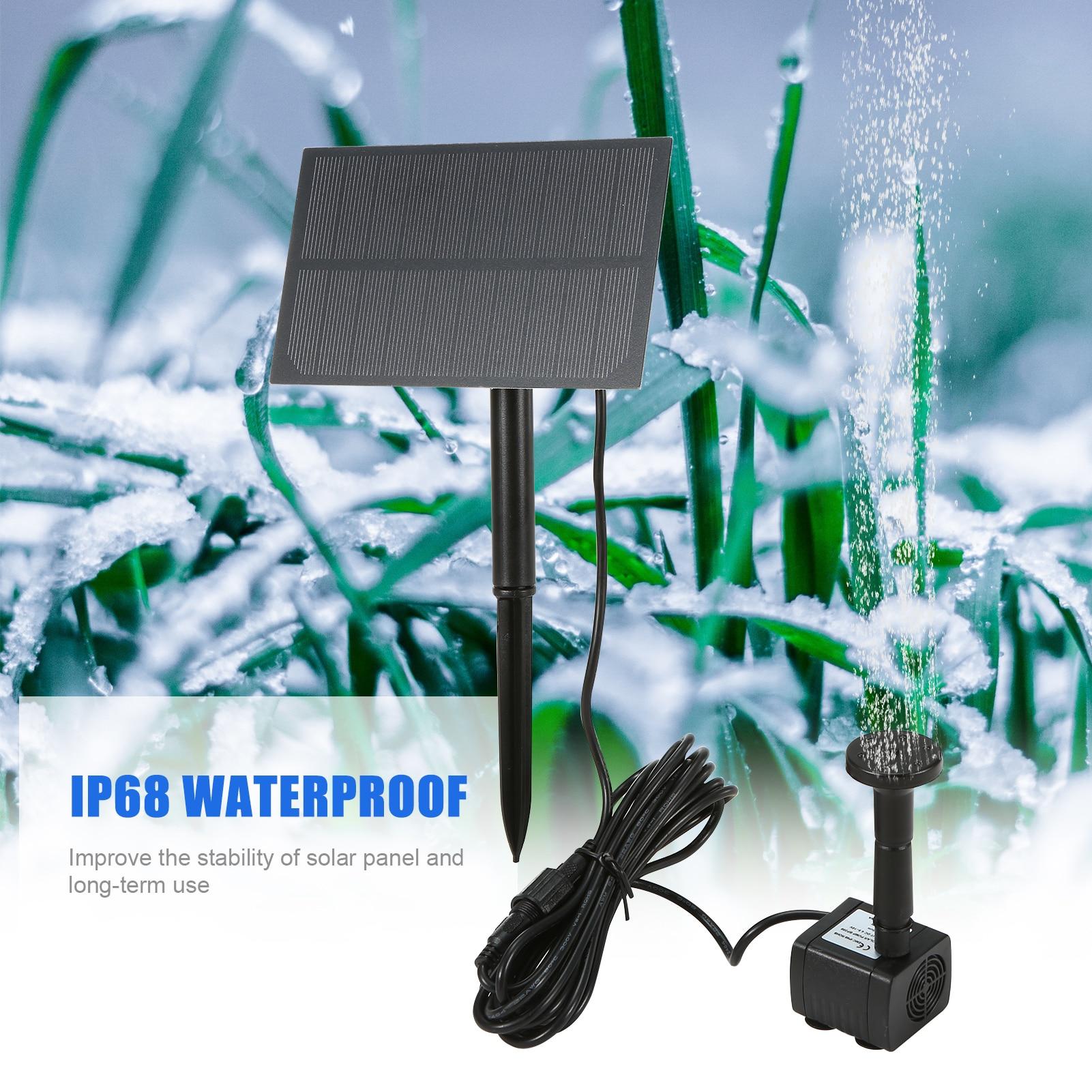Солнечная птица ванная фонтан с Панель DIY Birdbath погружной водяной насос настенный подключаемого модуля ountain воздушный насос для аквариума са...