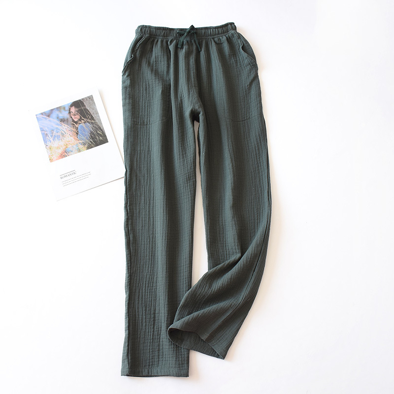 Nuevos Pantalones De Casa Acogedores De Verano Para Mujeres Pantalones De Dormir Frescos 100 Pijamas De Crepe De Algodon Mujer Pantalones De Para Dormir Pantalones Para Dormir Aliexpress