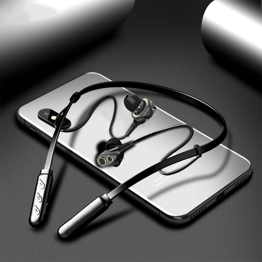 Wireless Earphone Bluetooth Headphones Dual Drive Bass headset Blutooth earphone Wireless earpieces with mic for Xiaomi phone|Phone Earphones & Headphones|   - AliExpress