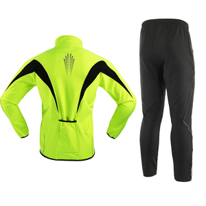 Image 2 - Arsuxeo velo térmico dos homens conjunto jaqueta ciclismo inverno à prova de vento calças de bicicleta mtb camisa ternos roupas 15kk