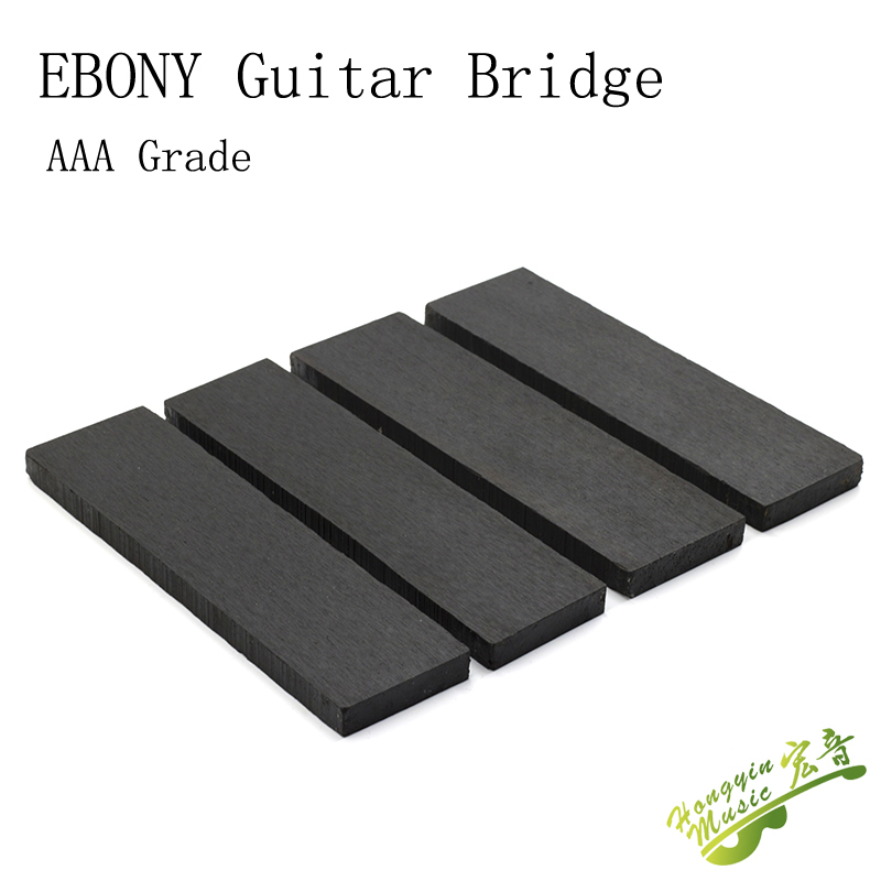 AAA-B Grade Ebony Material For Guitar Bridge High Quality African Blackwood Guitar Accessories Raw Materials 20*4.5-5*1.2-1.3cm