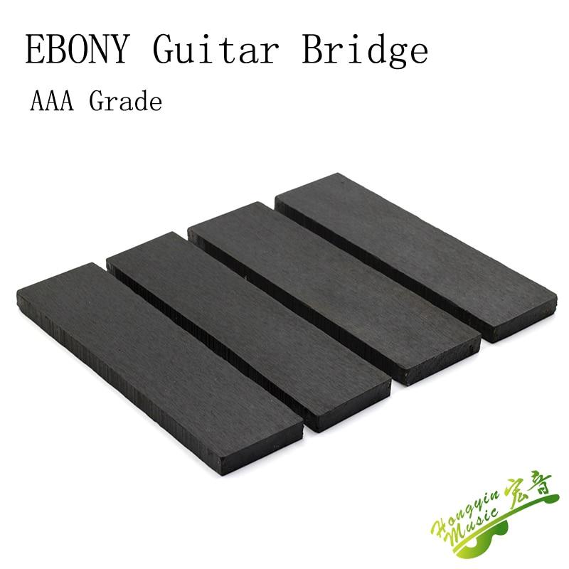 AAA-B Grade Ebony Material For Guitar Bridge High Quality African Blackwood Guitar Accessories Raw Materials 20*4.5-5*1.2-1.3cm