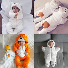 Newborn Baby Romper Boy Clothes Fall Winter Warm Soft