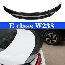 цены C238 Carbon Fiber Rear Spoiler Trunk Wing for Mercedes-Benz E Class W238 2-door Coupe 2017 - present E250 E300 E350 E400