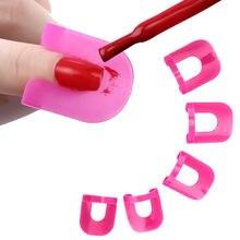 26 шт/лот лак для ногтей протектор розовый кривой образный 10