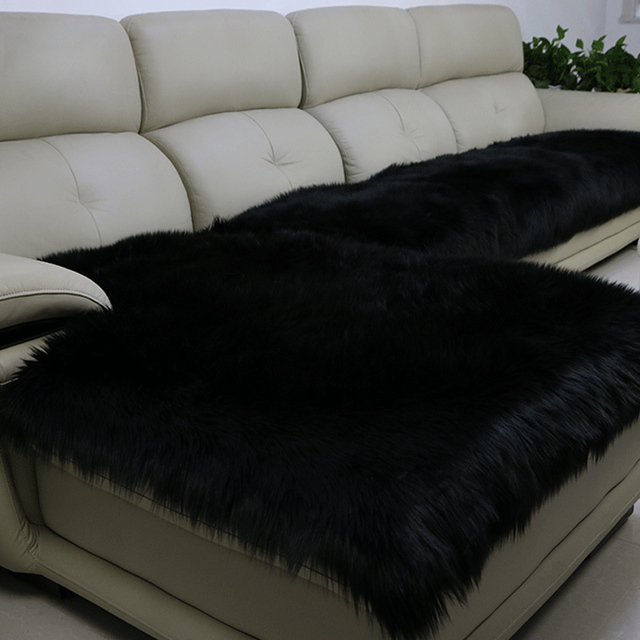 Cover White Fluffy Faux Fur Seat