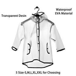 Capa de chuva das crianças à prova dwaterproof água eva capa de chuva menina poncho transparente crianças menino rainwear jaqueta única-pessoa rainwear 60yy027