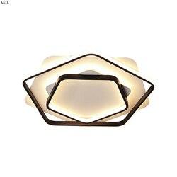 Kreatywne nowoczesne lampy sufitowe led pentagon proste lampy sufitowe lampa łóżko study lampa sufitowa led lampy do dekoracji domu