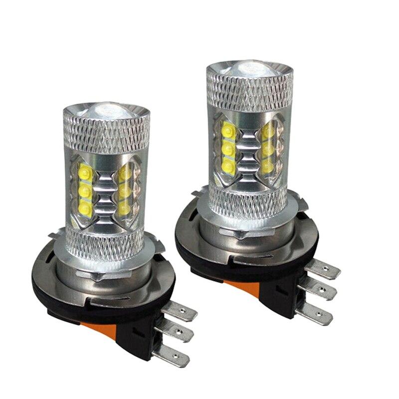 2pcs H15 LED Car Headlight Bulbs HID 12V 6000K Super Bright White Headlight Car Light Source Fit All Cars