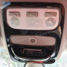 Для Renault Captur 2013- ABS углеродное волокно, автомобильная наклейка, передний светильник для чтения, лампа, накладка, капоты, автомобильные аксессуары, 1 шт