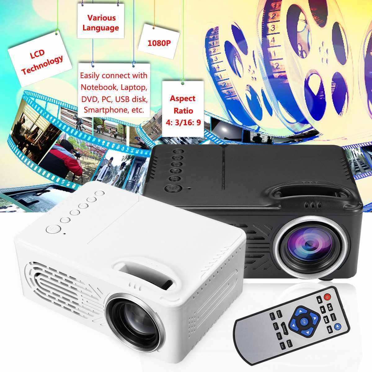 Портативный домашний 1080P HD проектор USB светодиодный проектор Beamer системы медиаплеер кинотеатр USB tv 3D