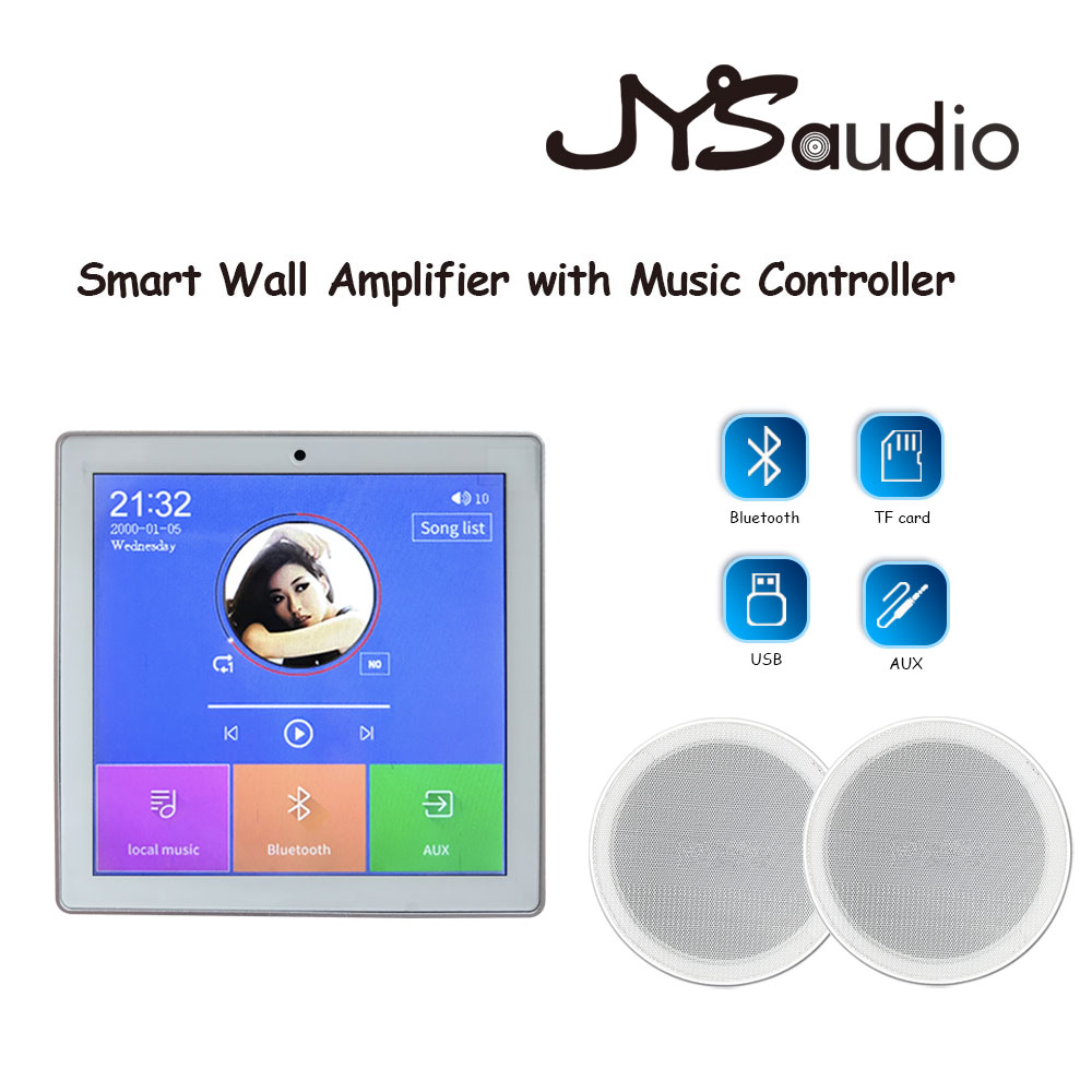 Smart Home Background Music System Ceiling Speaker In Wall Amplifier Mini Screen Headphone Amplifier Bluetooths Remote Control|Amplifier|   - AliExpress