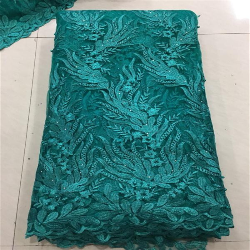 Madison African Lace Fabric 2019 Embroidered Nigerian Laces Fabric High Quality French Tulle Lace Fabric For Women 5Yards