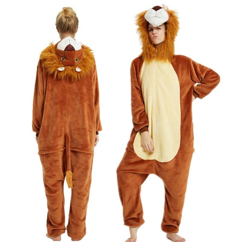 Image 2 - Winter Unisex Pajamas dinosaur Animal Pyjamas Women Kigurumi Adult onesies Cosplay Flannel stitch Onesie SleepwearPajama Sets   -