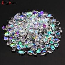 20/40/60/80/100 pz AB gradiente piccola mezzaluna perline di vetro ceco per la creazione di gioielli braccialetto fatto a mano collana accessori fai da te