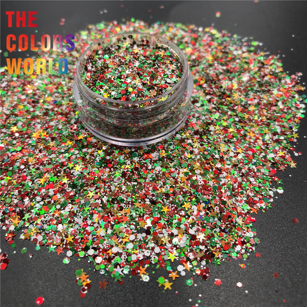 TCT-375 Christmas Nails Glitter Nail Art Christmas Decoration Face Painting Tumblers Craft Handmade Accessoires Festival Party