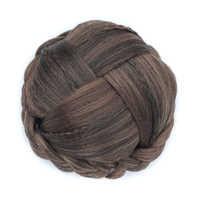 Soowee 6 Colors Knitted Hair Braided Chignon  Hair Bun Donut Roller Hairpieces Hair Haar Accessories Postizos