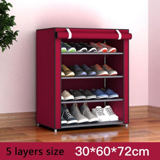 Multi-layer Dustproof Cloth Shoe Cabinet DIY Combination Assembly Shoe Storage Rack Household Finishing Shelves Home Furniture 1