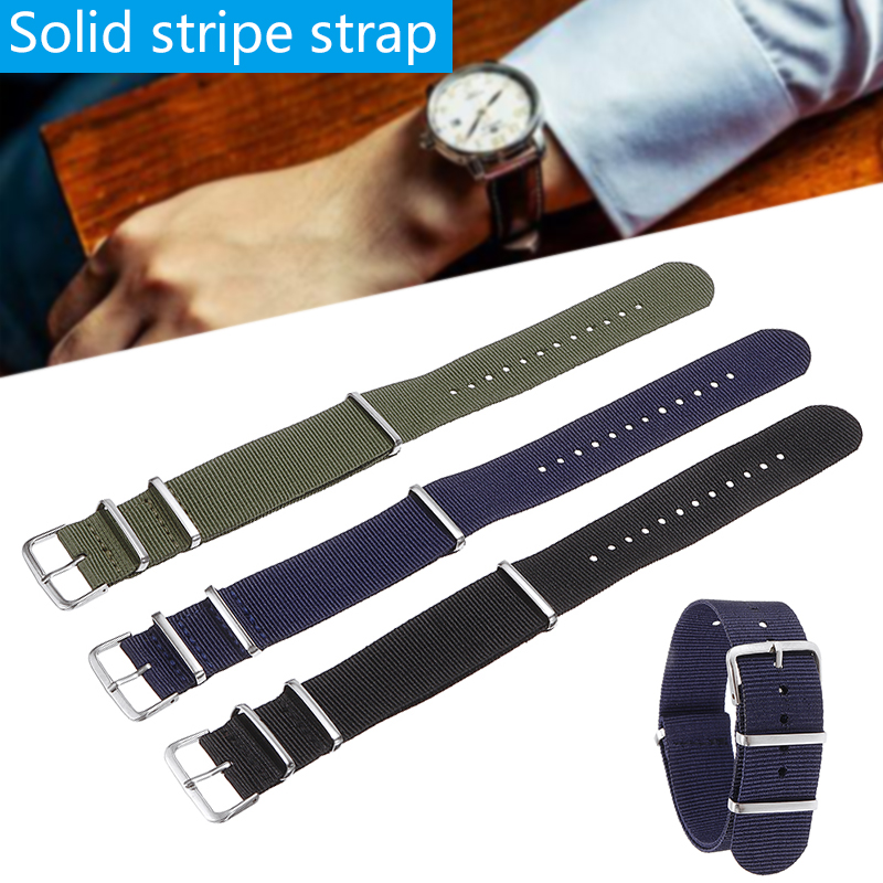 Universal Causal Nylon Fabric Watch Band Alloy Buckle Military Army Nylon Wrist Band For Watches Accessories 18mm,20mm,22mm