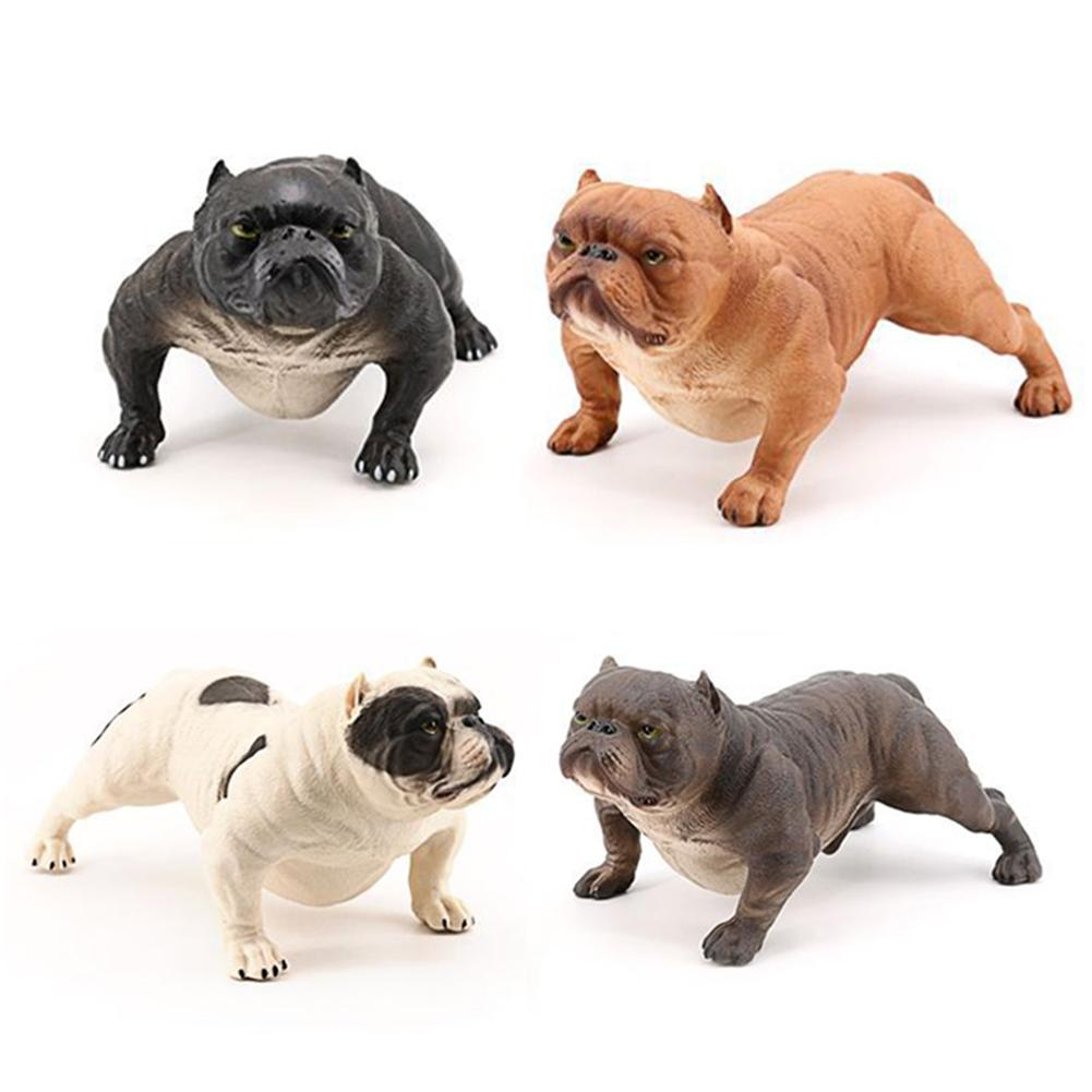 Realistic Bully Dog PVC Animal Solid Model Figurine Kids Toy Table Decoration home decor home decoration decoration Dog Model