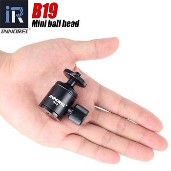 B19 mini piłka głowica do statywu telefon komórkowy smartphone statyw ze stopu aluminium głowica do selfie stick lekki aparat fotograficzny tanie i dobre opinie INNOREL